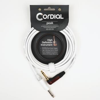 Premium Instrument White Snow Cable with Silent Plug: Peak Series - 1/ (HL-03719695)