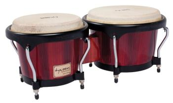 Artist Series Hand-Painted Red Finish Bongos: 7 inch. & 8-1/2 inch. (TY-00755118)