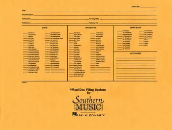 Musidex Band/Orchestra Concert Size Filing Envelope (HL-03770989)