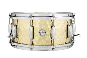 Gretsch Hammered Brass Snare Drum (6.5 x 14) (HL-00776433)