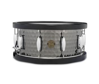 Gretsch 6.5X14 Hammered Black Steel Wood Hoop Snare Drum (HL-00776444)