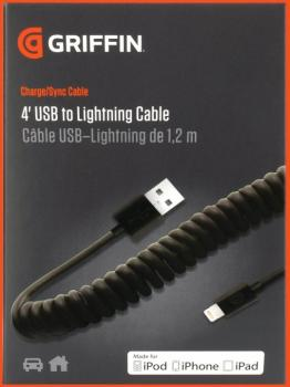4' USB to Lightning Cable, Coiled (GR-00124894)