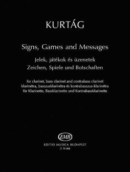 Signs, Games and Messages (for Clarinet, Bass Clarinet and Contrabass  (HL-50601253)
