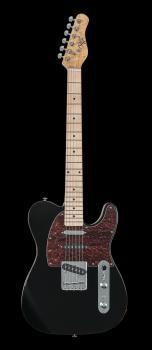 Triple 50 Gloss Black Electric Guitar: Gloss Back Electric Guitar (HL-00347991)
