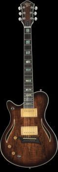 Hybrid Special Lefty Spalted Maple Burst Electric Guitar (HL-00348013)