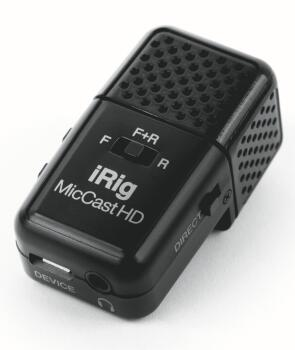 iRig Mic Cast HD: Podcasting Dual-Sided Digital Voice Microphone (HL-00323142)