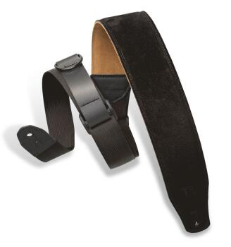 Right Height(TM) Suede Guitar Strap - Black: Specialty Series - 2-1/2  (HL-03719520)