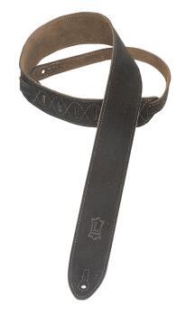 Suede Guitar Strap - Black: Classics Series - 2 inch. Wide (HL-03719523)