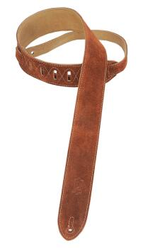 Suede Guitar Strap - Brown: Classics Series - 2 inch. Wide (HL-03719524)