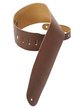 Genuine Leather Bass Strap - Brown: Classics Series - 3-1/2 inch. Wide (HL-03719542)
