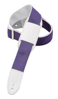 Polypropylene Guitar/Ukulele Strap - Purple/White Ribbon: Youth Series (HL-03719561)