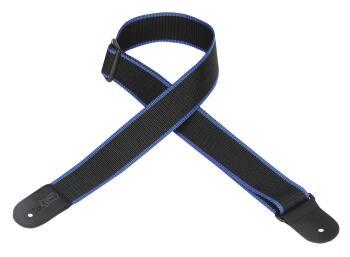 Polypropylene Guitar Strap - Black & Blue: Classics Series - 2 inch. W (HL-03719562)