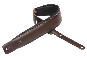 Geniune Leather Guitar Strap - Dark Brown: Heirloom Series - 3 inch. W (HL-03719568)