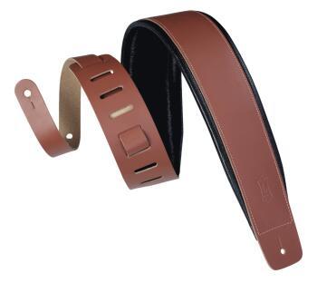 Genuine Leather Guitar Strap - Walnut: Heirloom Series - 3 inch. Wide (HL-03719569)