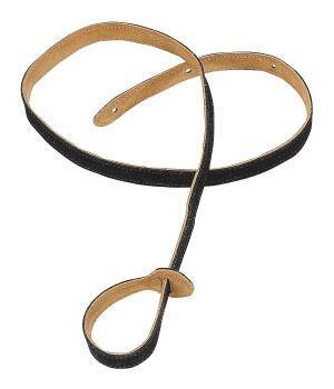 Suede Mandolin Strap - Black: Folk Instruments Series - 3/4 inch. Wide (HL-03719570)