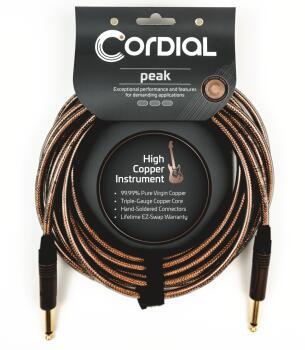 Premium High-Copper Instrument Metal Cable: Peak Series - 1/4 inch. to (HL-03719658)