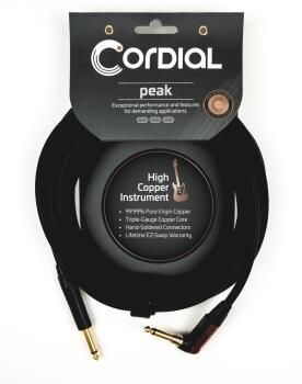 Premium Instrument High-Copper Silent Plug Cable: Peak Series - 1/4 in (HL-03719675)