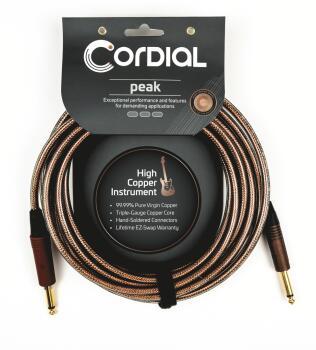 Premium High-Copper Instrument Metal Cable: Peak Series 1/4 inch. Stra (HL-03719679)