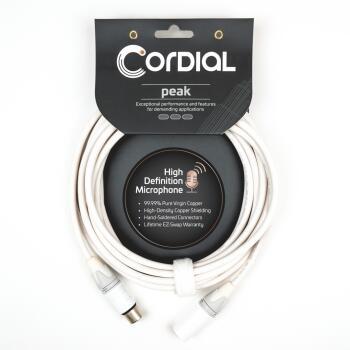 Premium High-Copper Snow White Microphone Cable: Peak Series - Balance (HL-03719705)